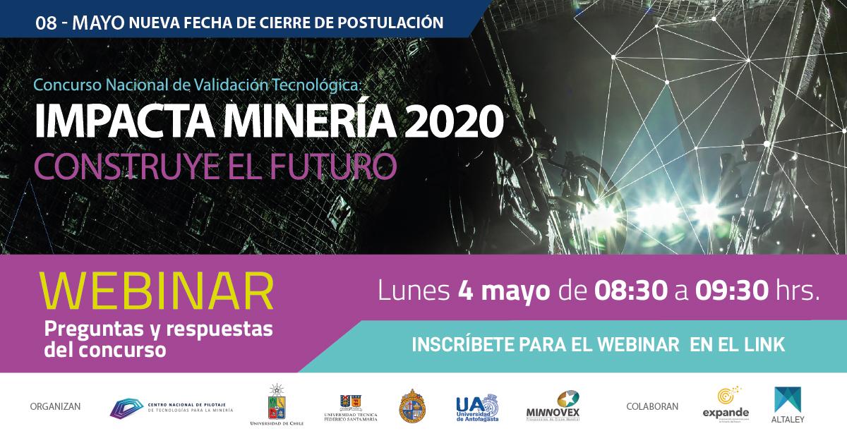 webinar concurso Impacta Minería