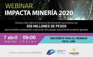 invitación webinar de concurso de mineria