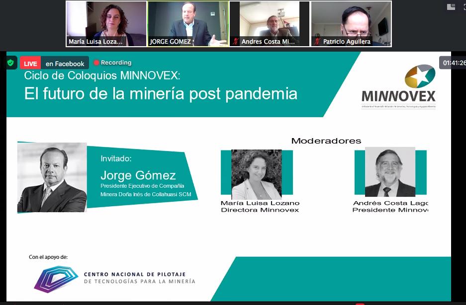Jorge Gómez, presidente ejecutivo de Collahuasi, en Coloquios Minnovex: Futuro de la Minería Post Pandemia