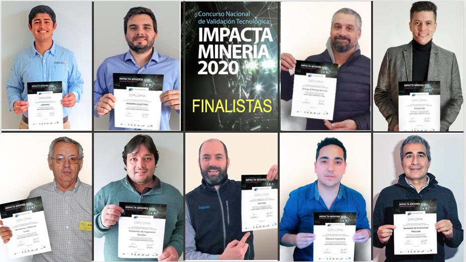 Finalistas del concurso Impacta Minería 2020.