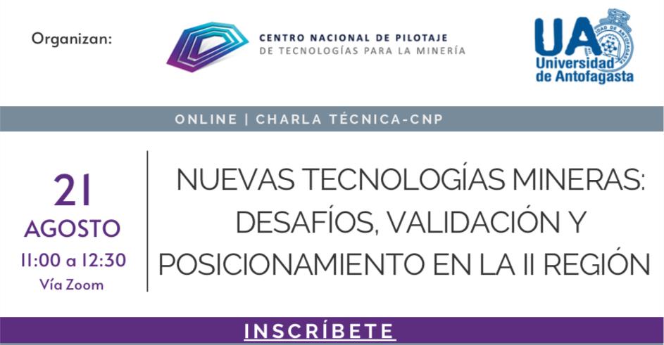 Charla técnica CNP: Nuevas tecnologías en minería