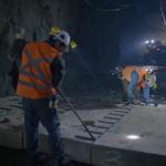 CNP: prueba piloto de losas de hormigón acelerado para minería subterránea