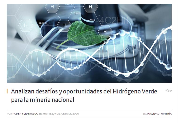 CNP realiza webinar sobre hidrógeno en la minería