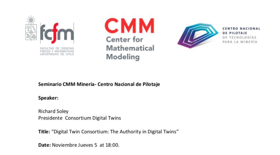 Charla sobre Gemelos Digitales CMM y Centro Nacional de Pilotaje